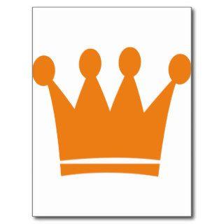 orange king crown post card