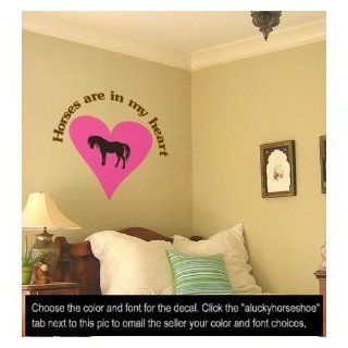 Horse decal, pony quote sticker, heart, vinyl wall decor, 36 X 37 inches   Wall Decor Stickers