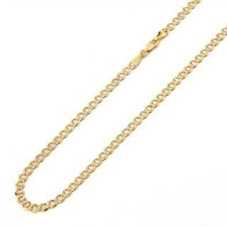 "14k Italy Yellow White Gold 2.1mm Mariner Two Tone Link Chain Bracelet 7"" Inches Jewelry"