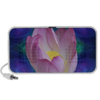 Pink lotus flower notebook speakers