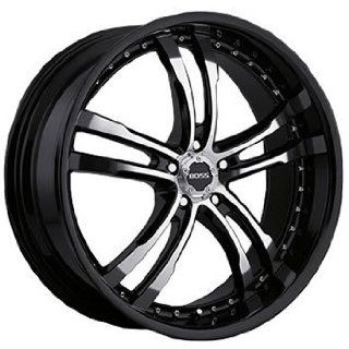 Boss 337 22 Black Wheel / Rim 5x120 with a 20mm Offset and a 82.80 Hub Bore. Partnumber 33780999 Automotive