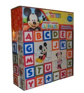 Alphabet And Number Blocks Images To Match And Learn   Mickey Mouse Clubhouse Mickey and Minnie Learn and Grow Blocks Toys & Games