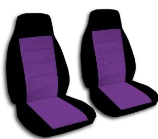 2 Black and Purple car seat covers for a 2008 to 2012 Nissan Altima. Side airbags. Automotive