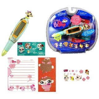 Hasbro Year 2007 Littlest Pet Shop Digital Pen Series Virtual Game   MONKEY Digital Game Pen with 6 Fun Games, 1 Pad of Paper and 2 Sticker Sheets Toys & Games
