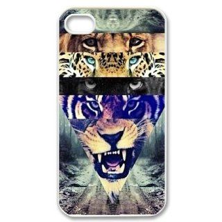 Custom Hipster Lion Cover Case for iPhone 4 4S IP 25174 Elektronik