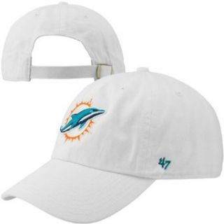 NFL Miami Dolphins '47 Brand Clean Up Adjustable Hat, White, One Size  Sports Fan Baseball Caps  Sports & Outdoors
