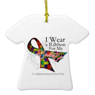 I Wear a Ribbon For My Students   Autism Awareness Ornaments