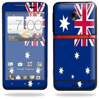 Protective Vinyl Skin Decal Cover for HTC Evo 4G LTE Sprint Cell Phone Sticker Skins Australian flag Cell Phones & Accessories