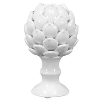 Small White Porcelain Artichoke Urban Trends Collection Accent Pieces