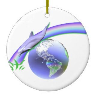 Dolphin Earth Day Christmas Tree Ornaments