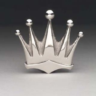 Silver Star Chrome KING CROWN Belt Buckle Clothing