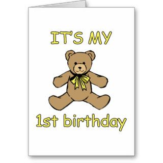 1st Birthday Gifts Greeting Cards
