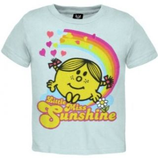 Mr. Men & Little Miss   Baby girls Rainbows T shirt   9 12 Months Light Blue Clothing