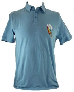 My Little Pony Friendship is Magic Mens Slim Fit Polo  Rainbow Dash Logo Clothing