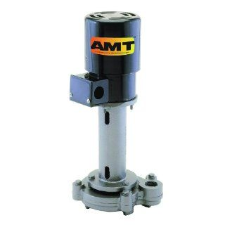 "AMT Pump 4441 95 Heavy Duty Industrial Coolant Pump, 6.3"" Max Immersion Depth, Cast Iron, 3/4 HP, 3 Phase, 208 230/460V, Curve D, 1 1/2 "" NPT Female Discharge Port"