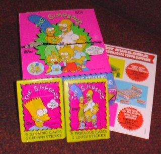 Simpsons Topps trading cards 36 pack box Toys & Games