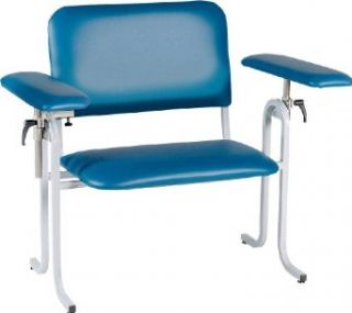 "TK Manufacturing Extra Wide Blood Drawing (Phlebotomy) Chair, 19"" Upholstered Seat Height, Upholstered Flip Up Arms. Closeout Special"