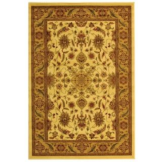 Lyndhurst Collection Ohsak Ivory/ Tan Rug (4 X 6)