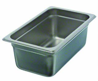 Update International SPH 254 Stainless Steel Anti Jam Steam Table Pan, Fourth Size, 4 Inch Kitchen & Dining
