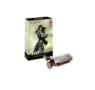 PowerColor ATI Radeon HD3450 256 MB DDR2 VGA/DVI/HDMI PCI Express Video Card AX3450 256MD2 HV2 Electronics