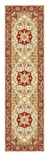 Lyndhurst Collection Traditional Ivory/red Runner (23 X 8)