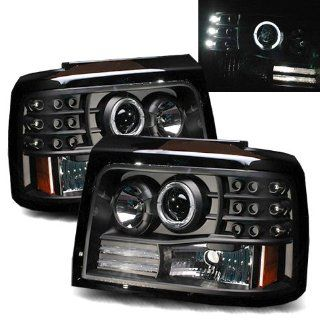 Ford Bronco Black LED Halo Projector Headlights /w Side Markers & Parking Lights Automotive