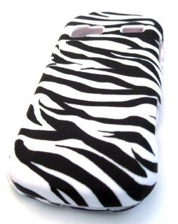 LG LN272 Rumor Reflex White Zebra Animal Print Fashiong HARD Rubber Coated Rubberized Feel Case Skin Cover Accessory Protector Cell Phones & Accessories