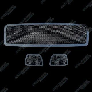 Fits 07 2013 Chevy Tahoe/Suburban/Avalanche Black Mesh Grille Grill Insert Combo # C77649H Automotive