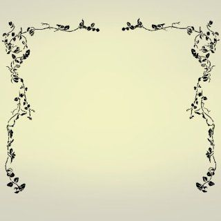 "Vinyl Wall Art Decal Sticker #275 Flower Floral Vines (2) 37""x65"""