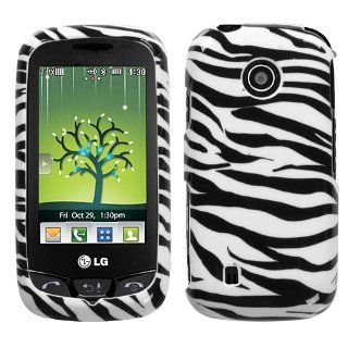 LG VN270 Cosmos Touch Graphic Case   Black/White Zebra Cell Phones & Accessories