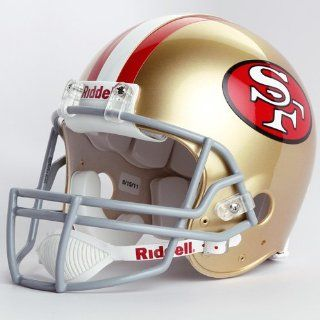 NFL Riddell San Francisco 49ers 1964 1995 Throwback Full Size Authentic Helmet  Sports Related Collectible Full Sized Helmets  Sports & Outdoors