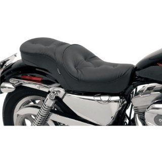 Drag Specialties Pillow Memory Foam Low Profile Touring Motorcycle Seat with 3.3 Gallon Tank For Harley Davidson Sportster Models 2004 2012   0804 0265 Automotive