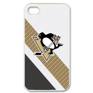 Custom Personalized NHL Pittsburgh Penguins Premier Cover Hard Plastic iPhone 4 4S Case Cell Phones & Accessories