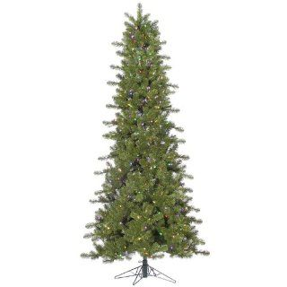 4.5' Pre Lit Slim Ontario Spruce Artificial Christmas Tree Multi Color LED Lights   Artificial Christmas Trees