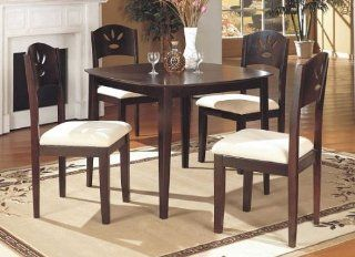 MODERN 40''X40'' DINING TABLE SET W/ 4 CUSHIONED CHAIRS   Dining Room Furniture Sets