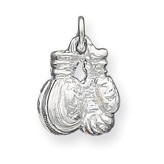 Sterling Silver Boxing Gloves Charm Jewelry