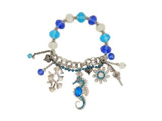 Betsey Johnson Iconic Blue Seahorse Multicharm Stretch Bracelet