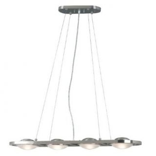 Kenroy Home 10054BS Cosmic 4 Light Island Light, Brushed Steel   Ceiling Pendant Fixtures