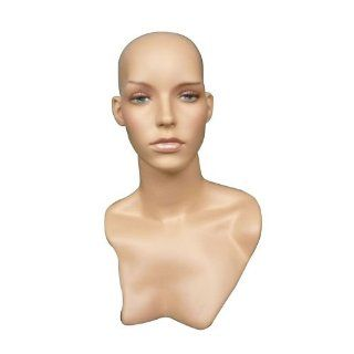 New Female Tall Realistic Fiberglass Mannequin Head Wig, Hat, Jewlery Display (HLM2)