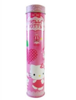 Sanrio 7.5in Pink Tin Hello Kitty Pencil Holder   Hello Kitty Pencilcase Clothing