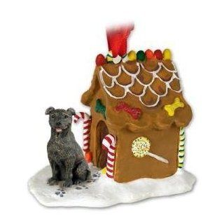 NEW Staffordshire Bull Terrier Ginger Bread House Christmas Ornament   Decorative Hanging Ornaments