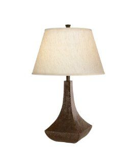 Kichler Lighting 70591CA Missoula 1 Light CFL Table Lamp, Hammered Bronze Finish with Linen Fabric Hard Back Shade