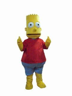 The Simpsons Bart Mascot Costumes Halloween Fancy Dress Outfit Suit Toys & Games