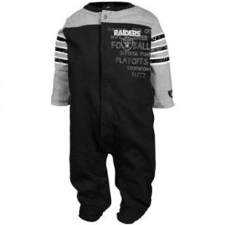 NFL Infant/Toddler Boys' Oakland Raiders Two Pack Long Sleeve Bodysuit (Team Color, 0 3M)  Sports Fan T Shirts  Clothing