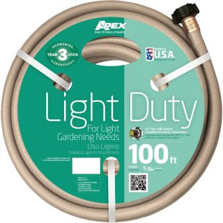 Teknor Apex Light-Duty Hose — 5/8in. x 100ft., Model# 8400-100  Garden, Sprinkler   Soaker Hoses