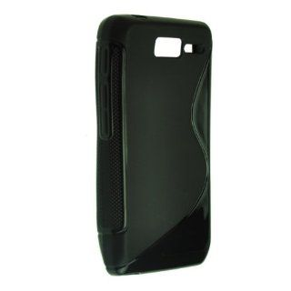 Okeler Black S Line Soft TPU Curve Gel Case Cover Skin for Motorola RAZR D1 with Free Pen Cell Phones & Accessories