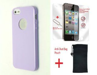 Northlogic (GRAPE PURPLE)iPhone 4S / 4 Latest Design Candy Jelly Glossy Cover Case Soft TPU Rubberized Case for Iphone 4s or Iphone 4 + (Free Matte Anti glare , Anti fingerprint Front Screen Protector + SIM Card Ejection Tool Pin + Anti Dust Bag Pouch) C
