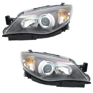 2008 2009 2010 2011 Subaru Impreza Outback WRX Halogen Headlight Headlamp Front Head Lamp Light Pair Set Right Passenger And Left Driver Side (11 10 09 08) Automotive