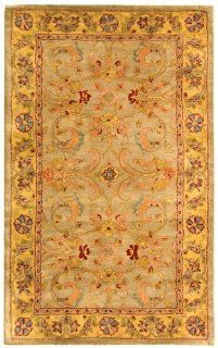Safavieh Classics Collection CL324A Handmade Light Green and Gold Wool Area Rug, 3 Feet by 5 Feet   Runners