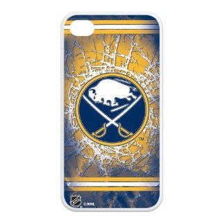 NHL Ice Hockey Buffalo Sabres Team Logo Cool Unique Durable TPU Rubber Case Cover for Apple Iphone 4 4S Custom Design UniqueDIY Cell Phones & Accessories